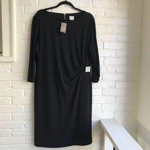 Chico's SO Slimming black Dress S 16 NEW w TAG